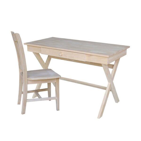 Troncoso Cross Leg Desk and Chair Set by Millwood Pines