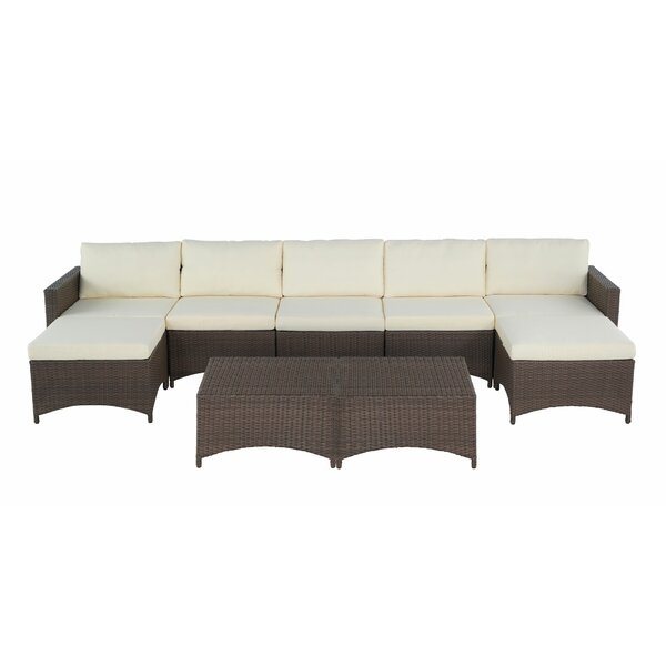 Charlottesville 9 Piece Sectional Seating Group with Cushions by Ebern Designs