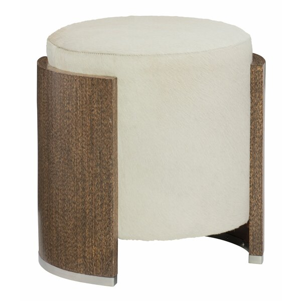 Barrows Leather Ottoman by Bernhardt