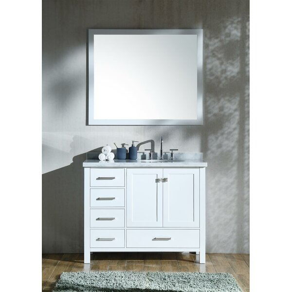 Marine Modern 43 Single Bathroom Vanity Set with Mirror by Andover Mills