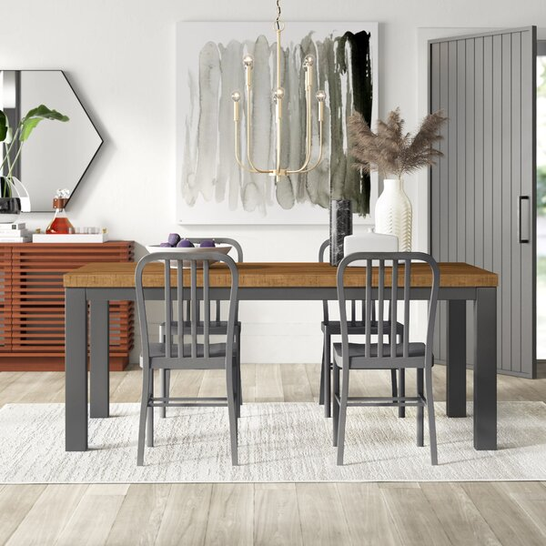 Langley 5 Piece Dining Set by Mercury Row