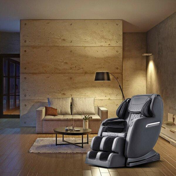 Patio Furniture SL Power Reclining Adjustable Width Heated Full Body Massage Chair