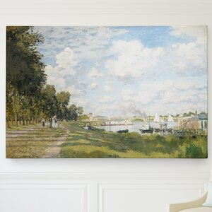 'Port at Argenteuil' by Claude Monet Painting Print on Wrapped Canvas by Wexford Home