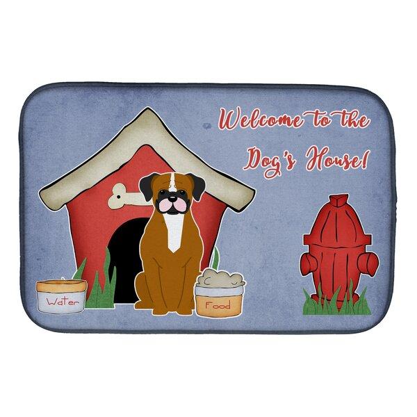 Dog House Flashy Fawn Boxer Dish Drying Mat by Caroline's Treasures
