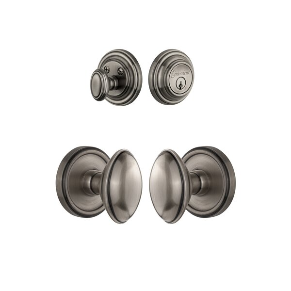 Georgetown Keyed Door Knob by Grandeur