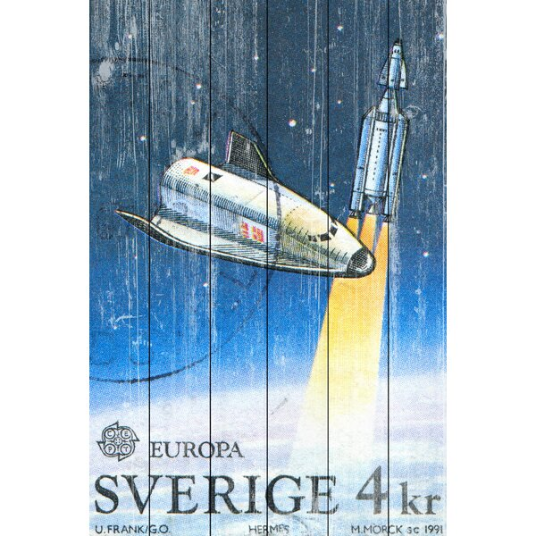Sverige Graphic Art on Wood by Marmont Hill