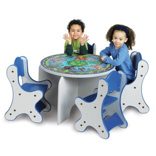 Animal Families Kids 5 Piece Table and Chair Set By Playscapes