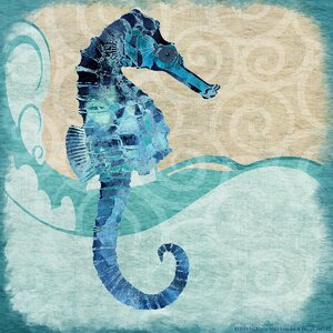 'Seahorse' Graphic Art on Wrapped Canvas by Beachcrest Home