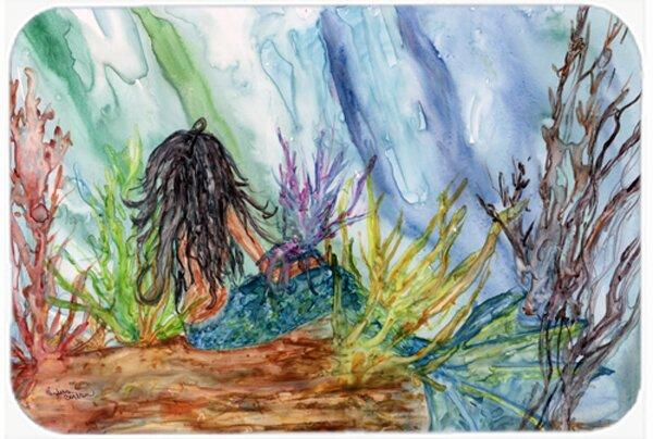 Haired Mermaid Water Fantasy Bath Rug
