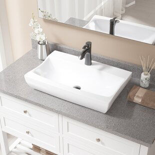 Bathrooms Sinks With Countertop. Vitreous China Rectangular Vessel Bathroom Sink With Faucet