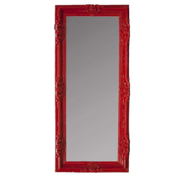 Rectangle Red Floor Mirror by Rosdorf Park