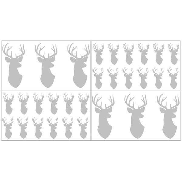 Grey and White Woodland Deer Collection Wall Decal (Set of 4) by Sweet Jojo Designs