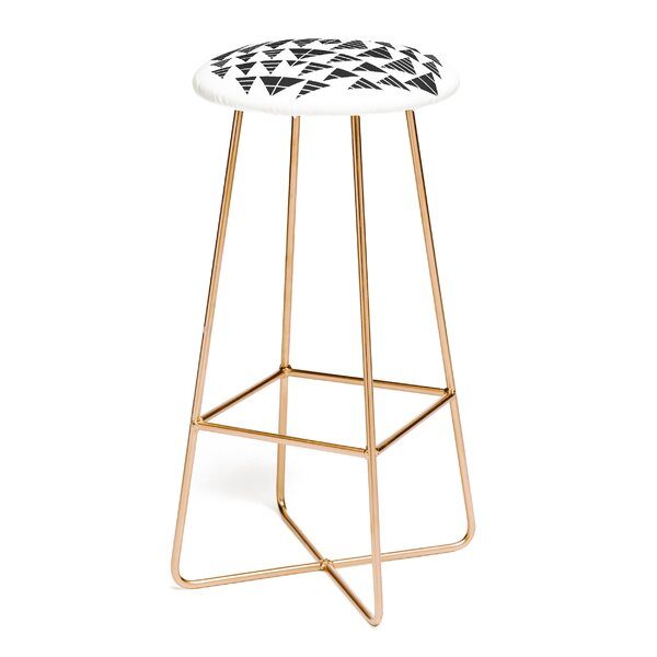 Gneural Neu Tribal Black 30 Bar Stool by East Urban Home