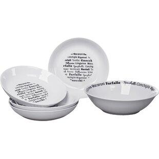 Set of 2 400ml Stoneware Grey /& Red Heart Soup Breakfast Dessert Pasta Bowls