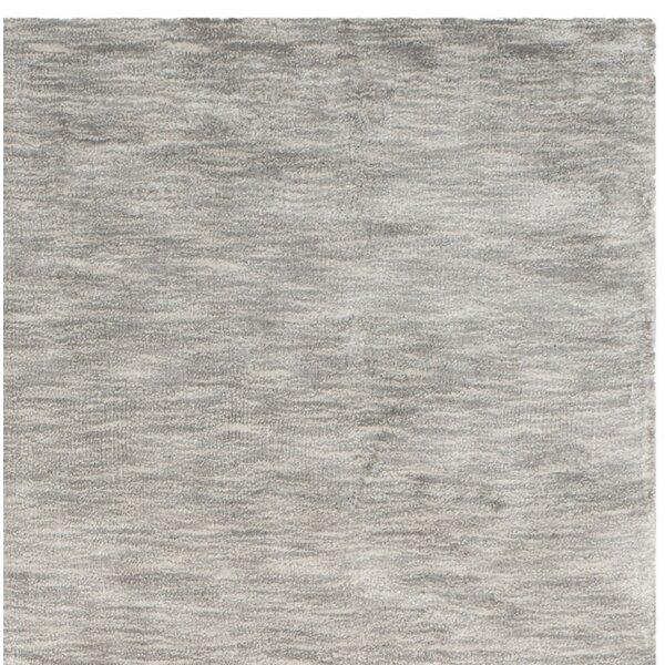Guy Hand-Loomed Gray Area Rug by Wade Logan