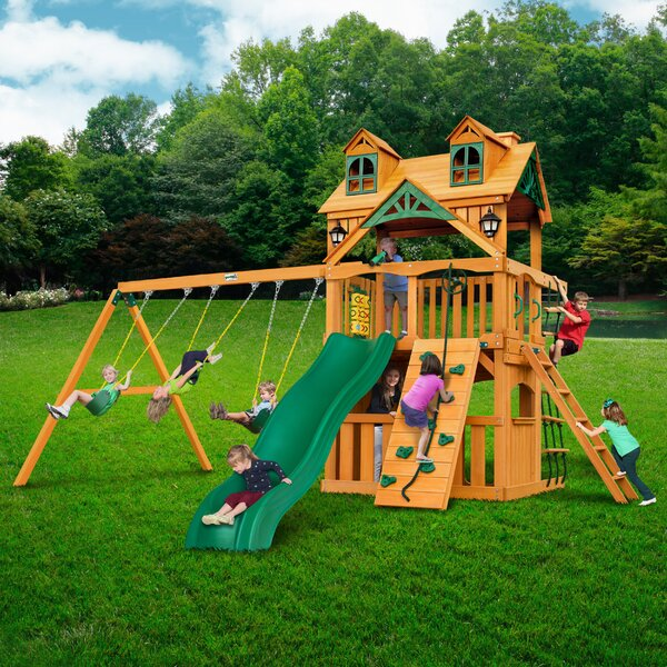 Chateau Clubhouse Swing Set by Gorilla Playsets
