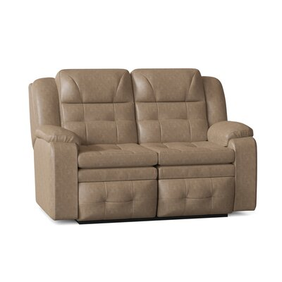"""Inspire 60"""""""" Pillow Top Arm Reclining Loveseat Southern Motion Reclining Type: Manual, Body Fabric: Pasadena Tanner -  850-21-24217"""
