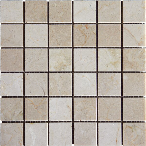 2 x 2'' Marble Mosaic Tile in Crema Marfil by MSI