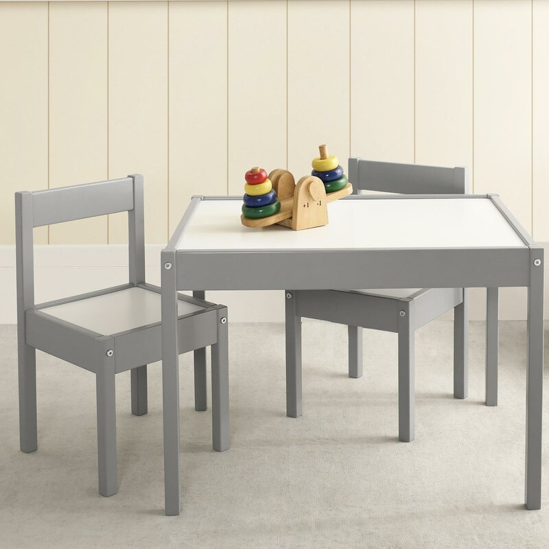 Ramona 3 Piece Rectangular Table And Chair Set