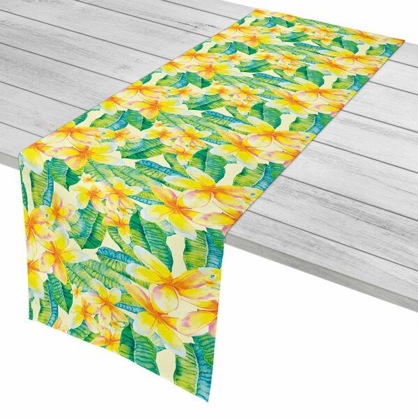 Tropical Plumeria Yellow Table Runner by Island Girl Home