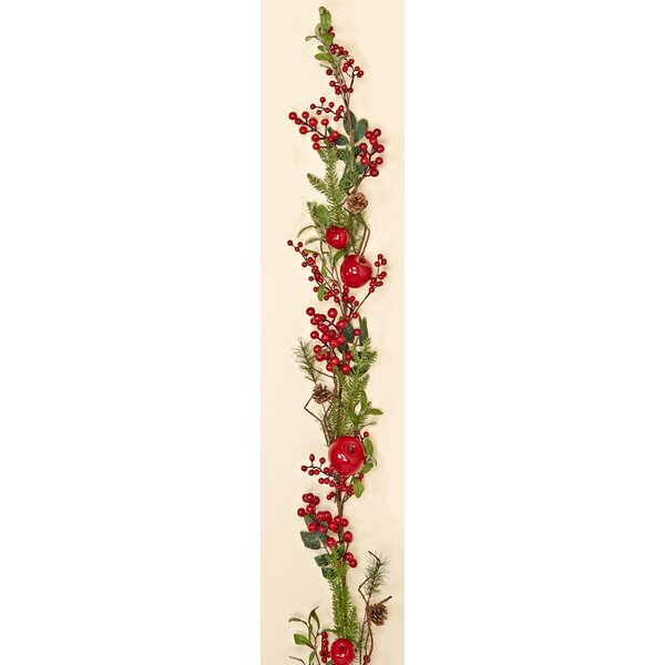 Weatherproof Berry Apple  with Pine Cone Garland by Worth Imports