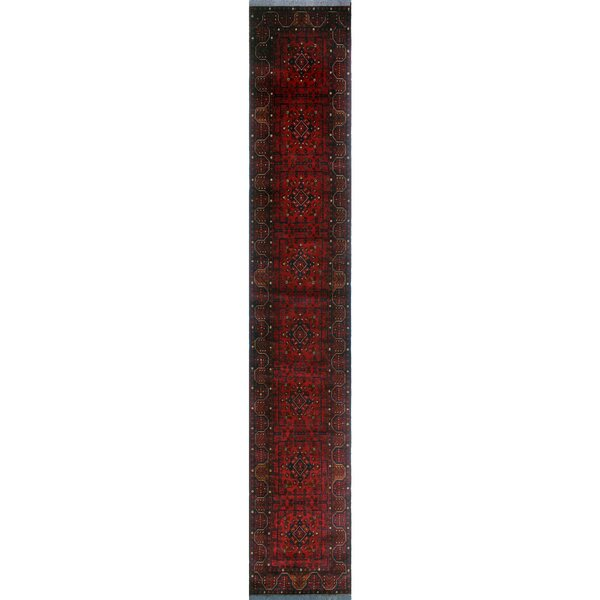 One-of-a-Kind Millar Felix Hand-knotted Wool Red Area Rug by Bloomsbury Market