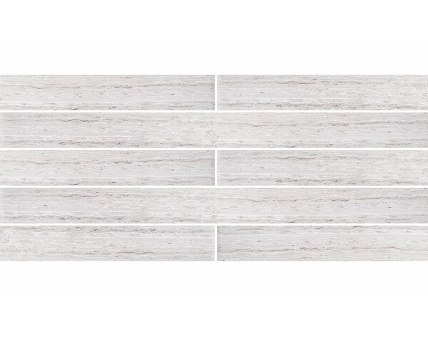 Wood Grain 2 x 24 Marble Field Tile in Gray by Parvatile