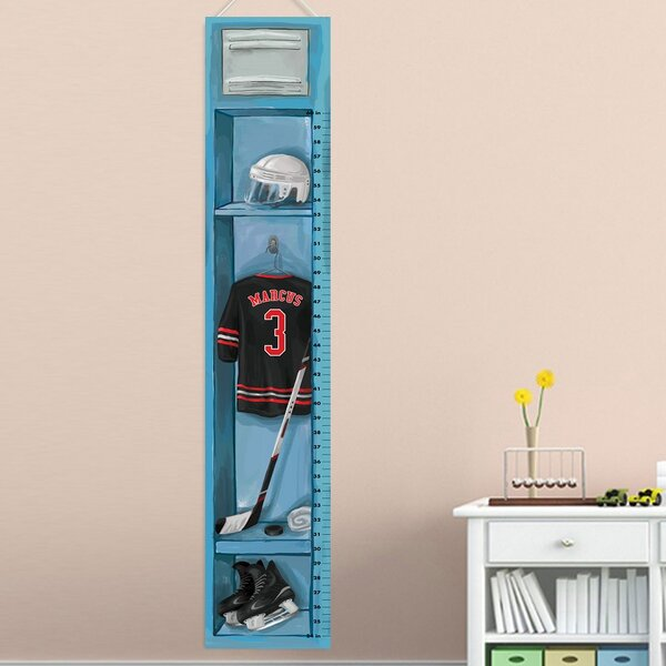 Dex Hockey Growth Chart Personalized Wall Hanging by Zoomie Kids