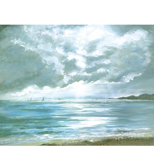 Stormy Weather by Sandra Francis Painting Print on Wrapped Canvas by Portfolio Canvas Decor