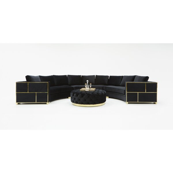 Pooler Symmetrical Modern Curved Sectional by Everly Quinn Everly Quinn