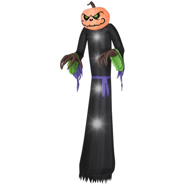 Pumpkin Reaper Giant Inflatable by The Holiday Aisle