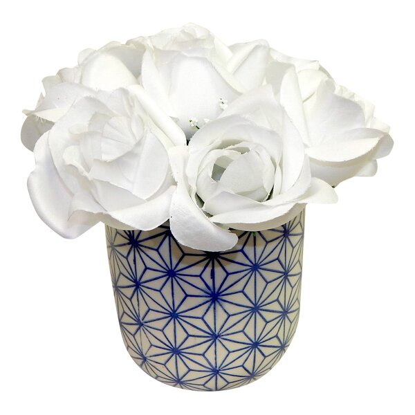 Roses Centerpiece in Dolly Pot by August Grove