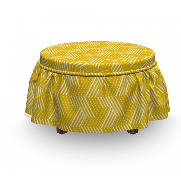 Lattice Ottoman Slipcover (Set Of 2) By East Urban Home