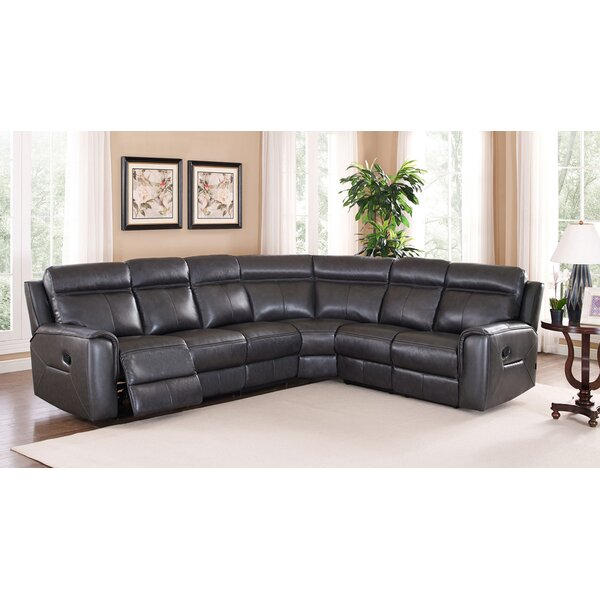 Vernetta Leather Reclining Sectional by Red Barrel Studio