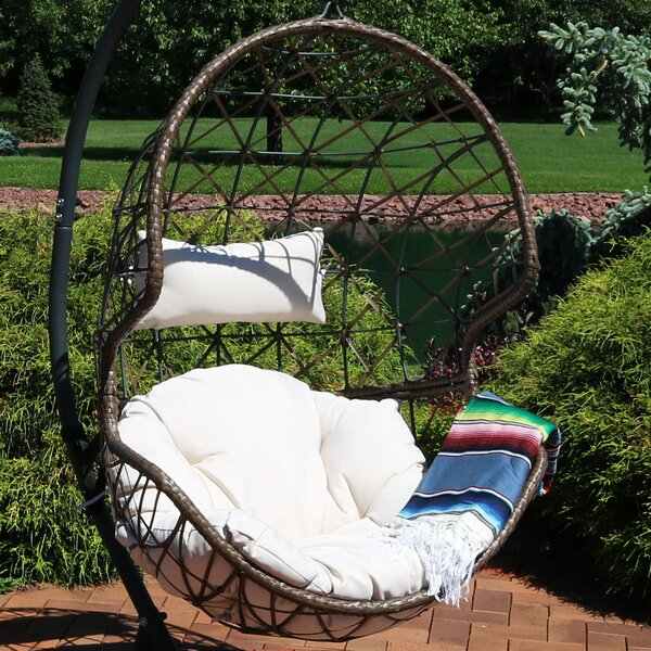 Mahaffey Hanging Egg Swing Chair by Bungalow Rose Bungalow Rose