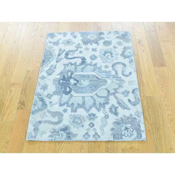 One-of-a-Kind Bourbonnais Mahal Hand-Knotted Ivory Wool Area Rug by Isabelline