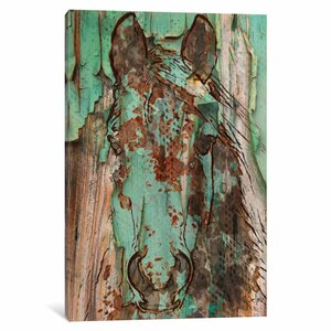 Horse Painting Print on Wrapped Canvas by East Urban Home