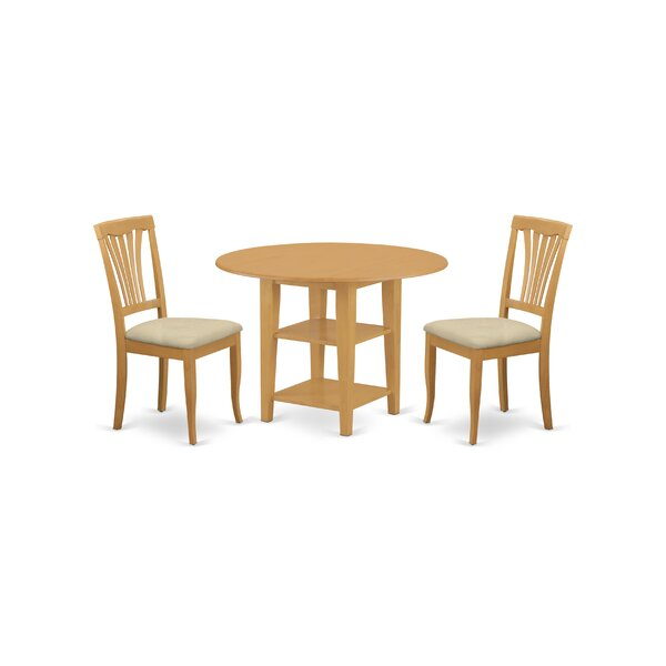 Tyshawn Rubberwood Breakfast Nook Dining Set by Charlton Home Charlton Home