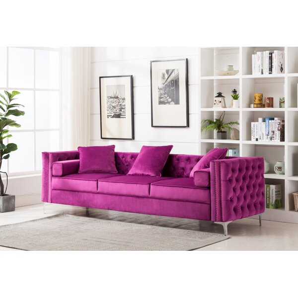 Cool Trendy Zaida Sofa by House of Hampton by House of Hampton