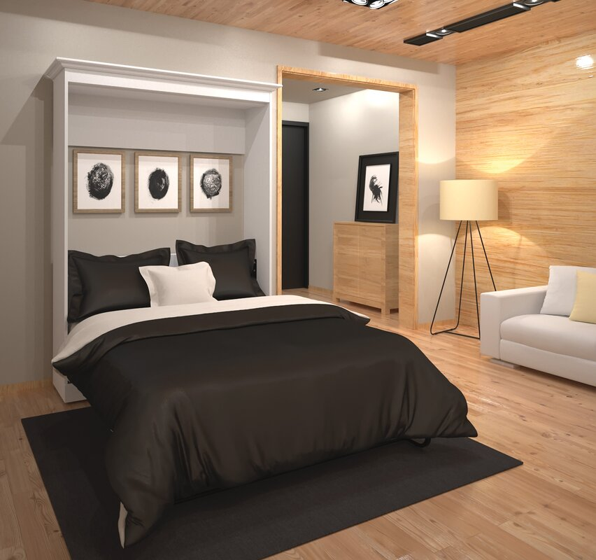latitude run acevedo storage murphy bed reviews. Black Bedroom Furniture Sets. Home Design Ideas