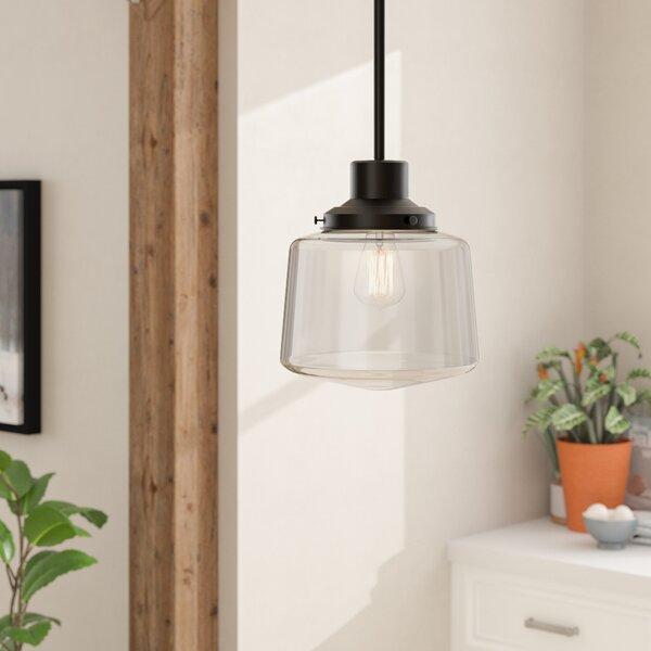 Itko 1-Light Schoolhouse Pendant by Gracie Oaks