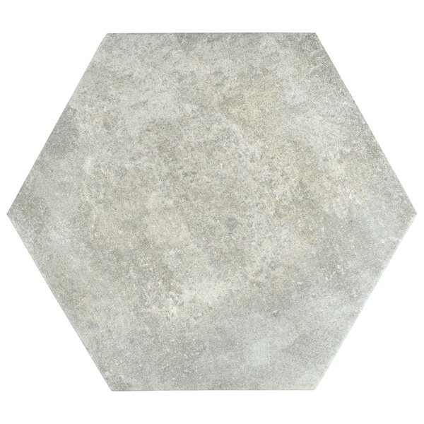 Victoria Ferro Hexagon 14.13 x 16.25 Porcelain Field Tile in Bianco by EliteTile