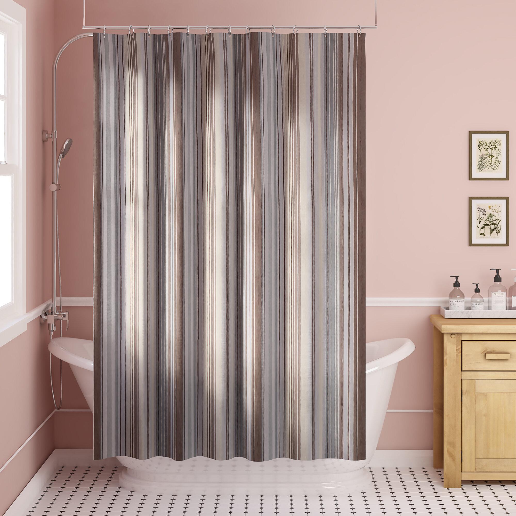 Dell Stipe Fabric Single Shower Curtain