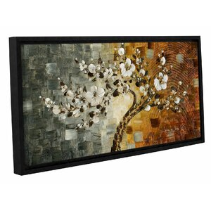 'White Tree 02' Framed Painting Print by Zipcode Design