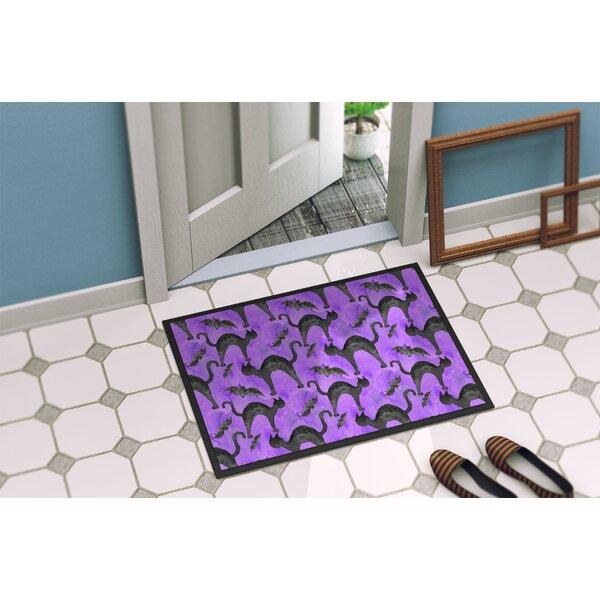 Precita Halloween Cats Non-Slip Indoor Only Door Mat