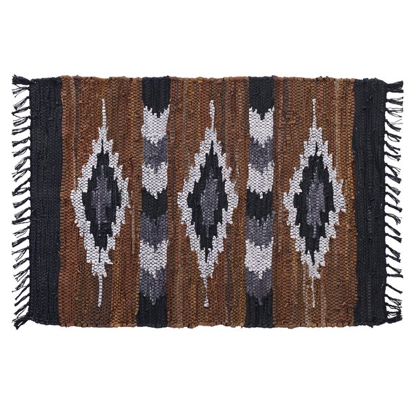Snake River Canyon Hand Woven Brown/Black Area Rug by Home Furnishings by Larry Traverso