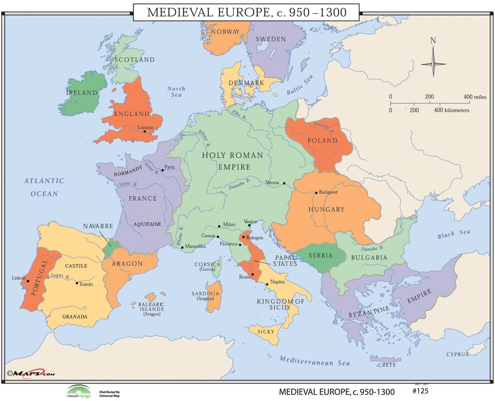 Universal Map World History Wall Maps
