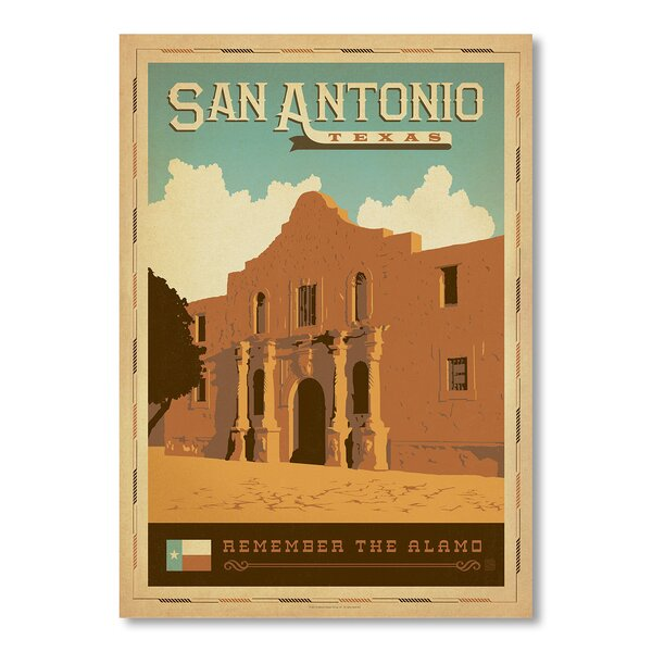 San Antonio Vintage Advertisement by East Urban Home