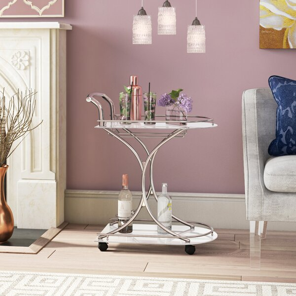 Hansley Bar Cart by Willa Arlo Interiors Willa Arlo Interiors