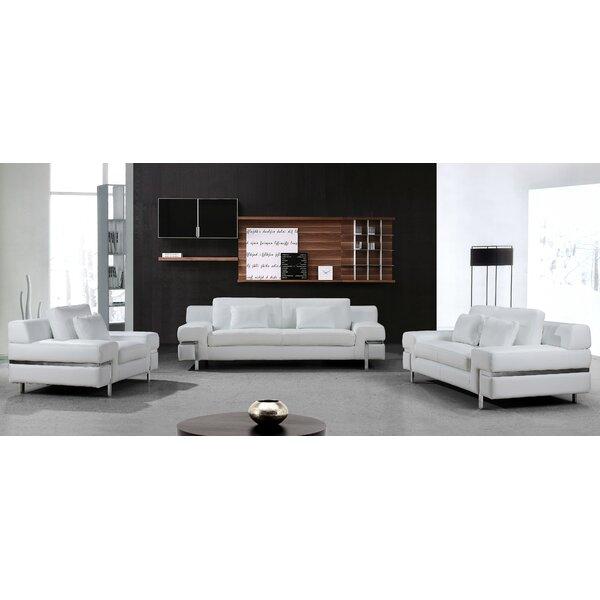Coalpit Heath Leather Living Room Set (Set of 2) by Orren Ellis